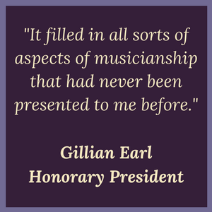 Gillian Earl Certification