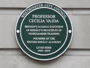 Cecilia Vajda Green Plaque