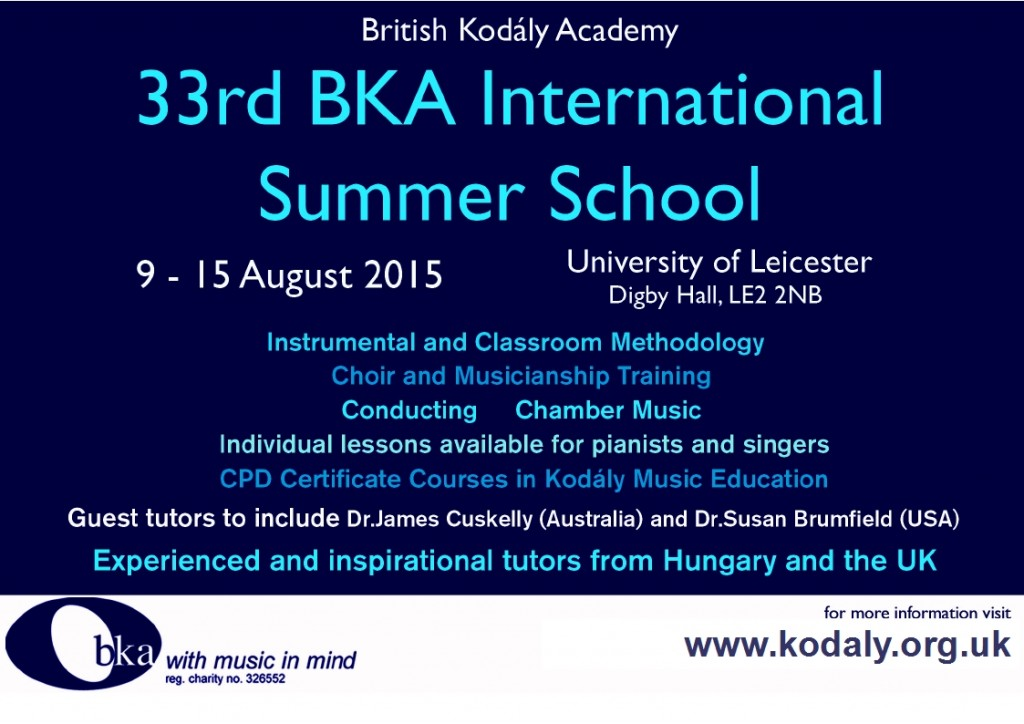 Kodály Summer School 2015